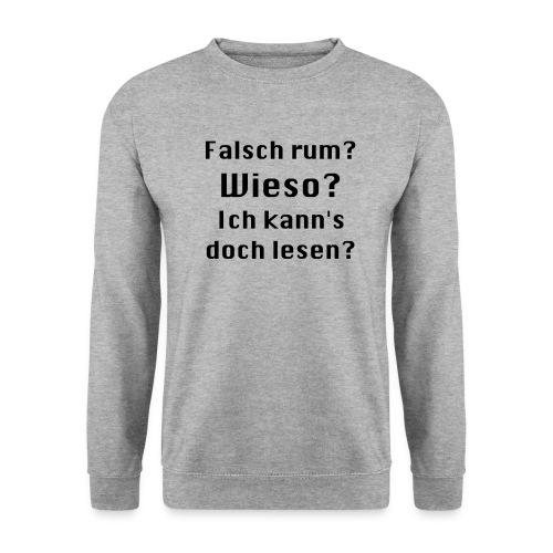 Falsch rum - Männer Pullover