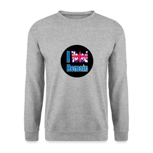 I Voted Remain badge EU Brexit referendum - Men's Sweatshirt