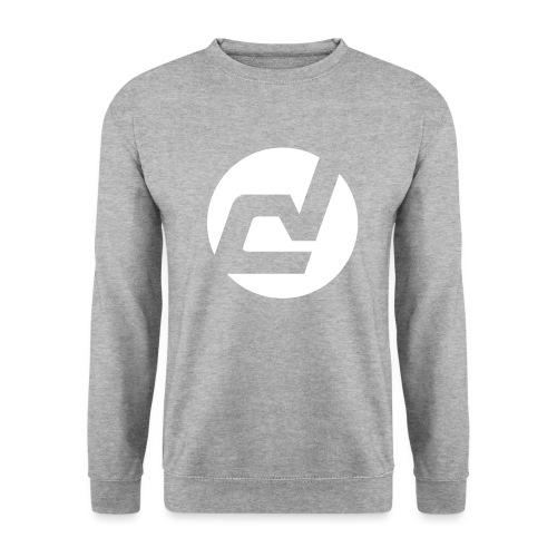 logo blanc - Sweat-shirt Homme