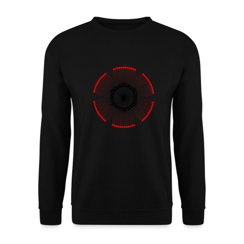 Red Poppy Seeds Mandala - Unisex Sweatshirt
