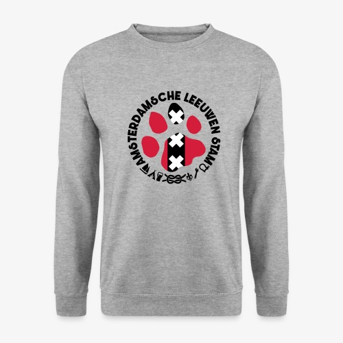 ALS witte cirkel lichtshi - Unisex sweater