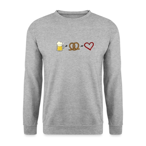 pretzel + beer = love - Unisex Sweatshirt