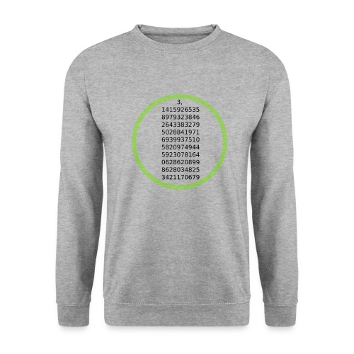 Number Pi Green Circle - Unisex svetaripaita