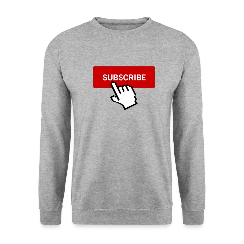 youtube subscribe button & cursor (1) - Unisex Sweatshirt