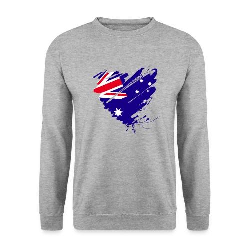 Australien Sydney Kontinent Grunge Herz Fahne - Männer Pullover