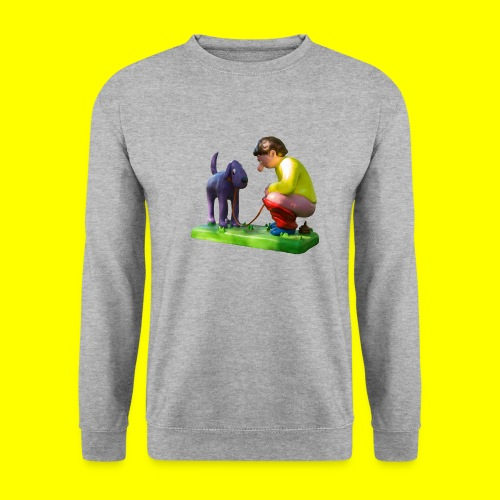 Mannetje Poep vrijstaand - Mannen sweater
