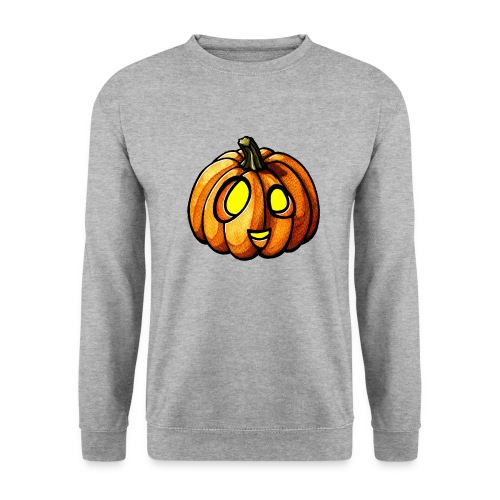 Pumpkin Halloween watercolor scribblesirii - Männer Pullover