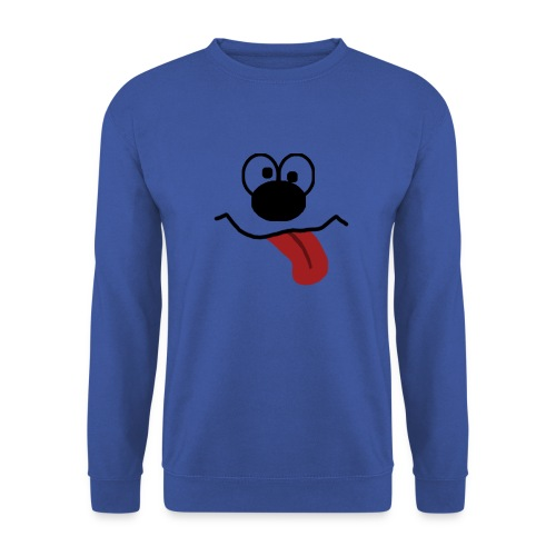 Funny Cartoon Face dunk tongue sticking out - Men's Sweatshirt