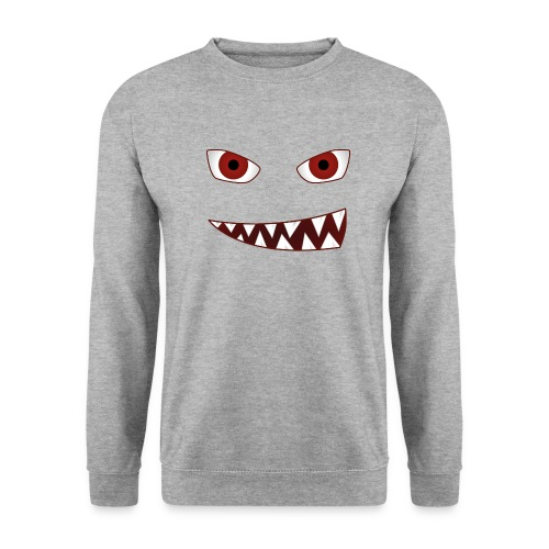 smiling devil emoticon grinning red demon - Unisex Pullover