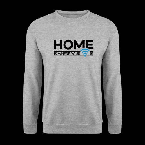 home is where … wi-fi - Männer Pullover