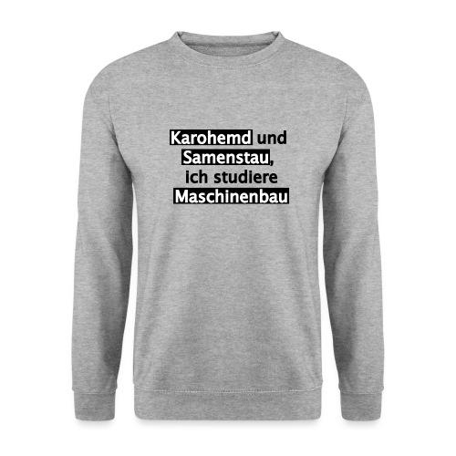 Student--Maschinenbau--T-Shirt--Spruch--white - Männer Pullover
