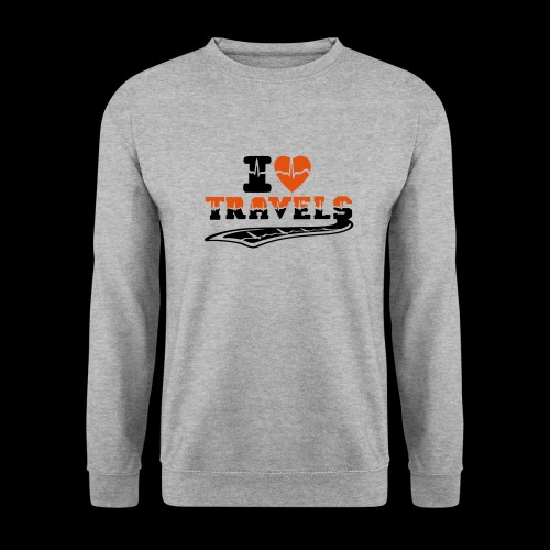i love travels surprises 2 col - Men's Sweatshirt