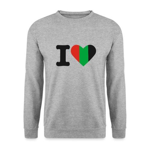 hartjeroodzwartgroen - Unisex sweater