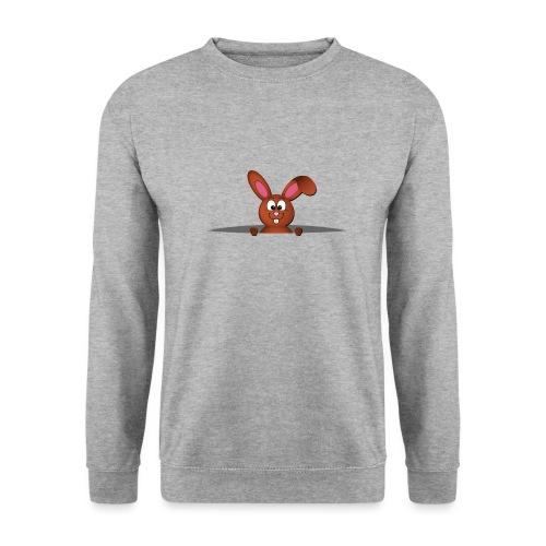 Cute bunny in the pocket - Felpa unisex