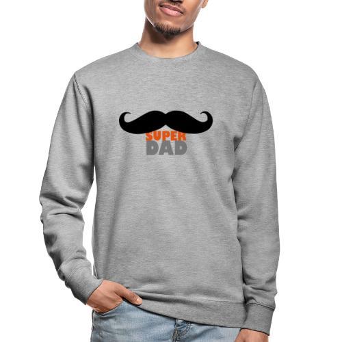 superdad moustache - Unisex Pullover