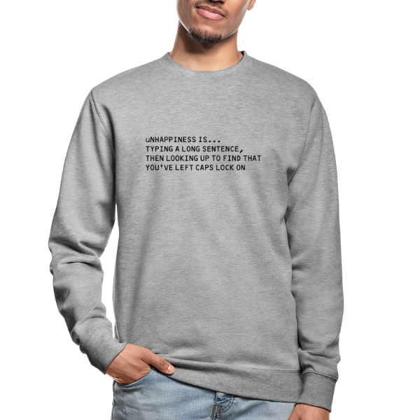 unhappiness caps lock - Unisex Sweatshirt