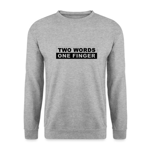 Two Words - One Finger - Männer Pullover