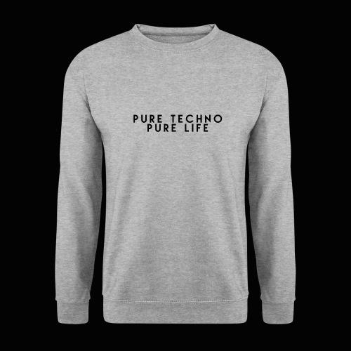 Pure Techno Pure Life Black - Männer Pullover