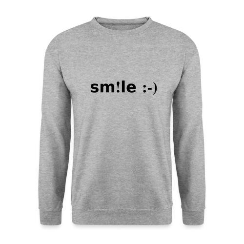 smile - sorridi - Felpa da uomo