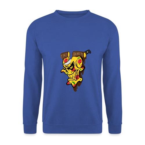 Pizza Schädel mit Messer - Männer Pullover