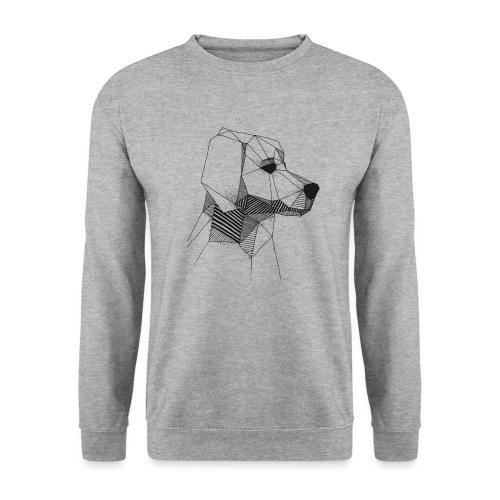 Golden Retriever Geometrisch Zwart - Unisex sweater