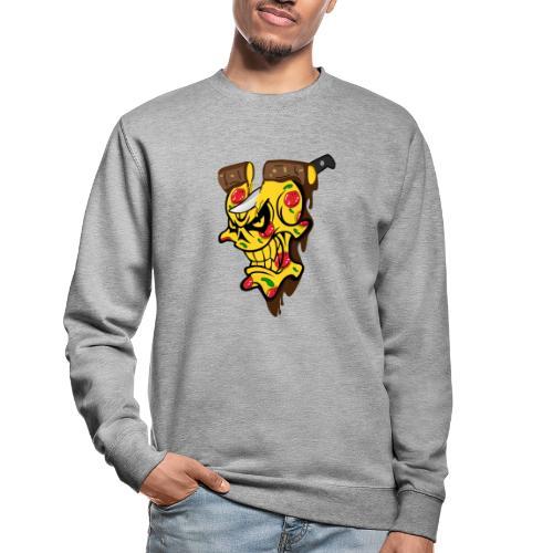 Pizza Schädel mit Messer - Unisex Pullover