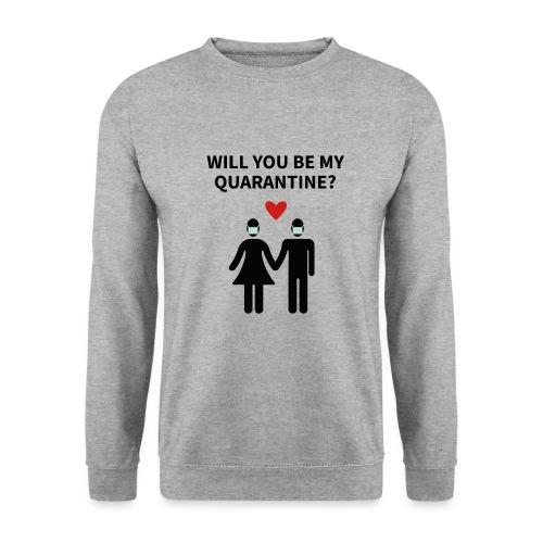 Liebespaar mit Schriftzug - Unisex Pullover