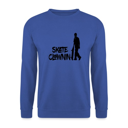 Skateclowninallblackno bg gif - Unisex Sweatshirt