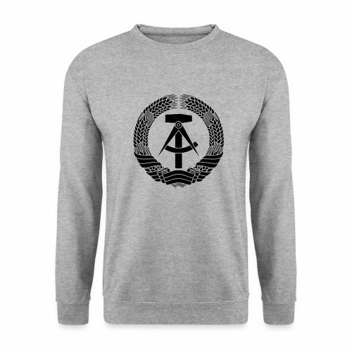 DDR Wappen (schwarz) - Men's Sweatshirt