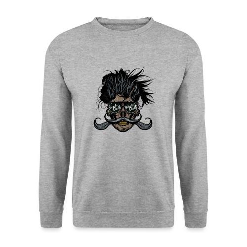 hipster skull tete de mort crane barbu moustache - Sweat-shirt Unisexe