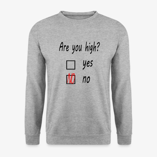 Are you high? - Männer Pullover