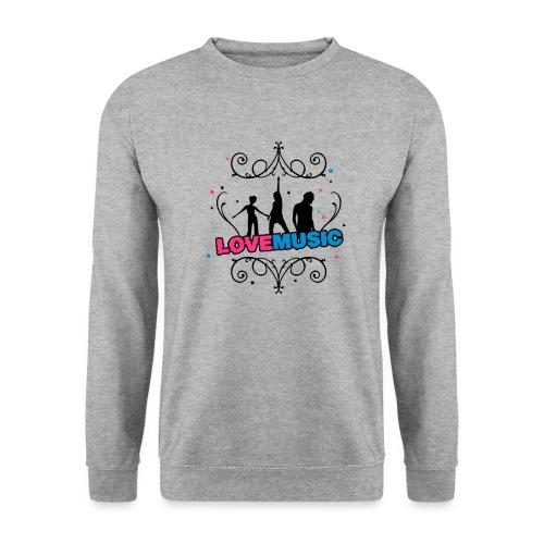 Motif Love Music - Sweat-shirt Unisex