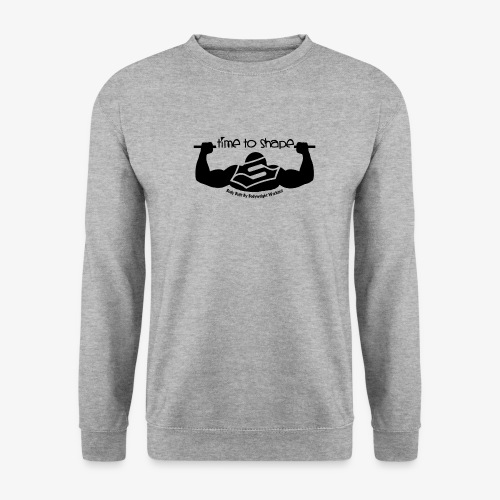 New timetoshape one color black png - Unisex Pullover