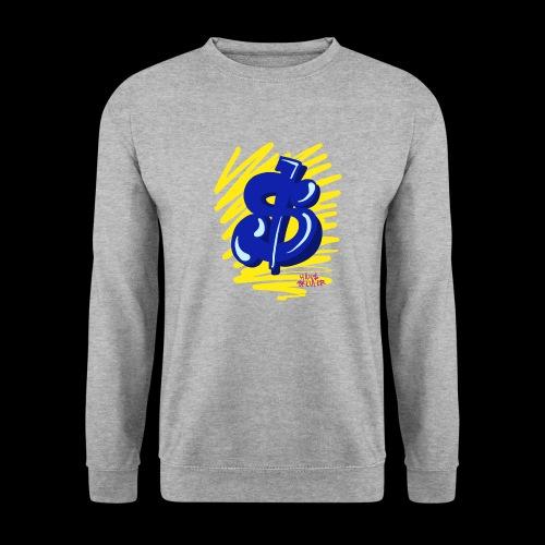 Gele strepen blauwe dollar - Unisex sweater