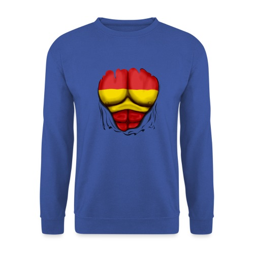España Flag Ripped Muscles six pack chest t-shirt - Unisex Sweatshirt