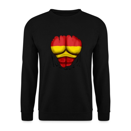 España Flag Ripped Muscles six pack chest t-shirt - Unisex Sweatshirt