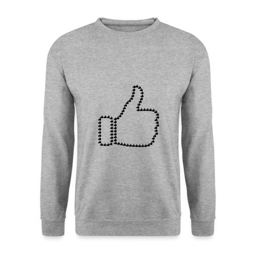 Zustimmung aus Daumen - Männer Pullover