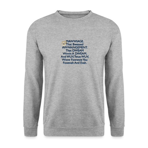 Mawwiage (blue) - Unisex Sweatshirt