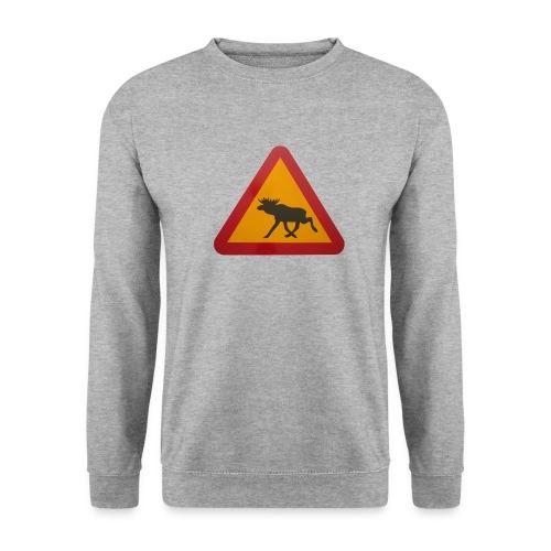 Warnschild Elch - Unisex Pullover
