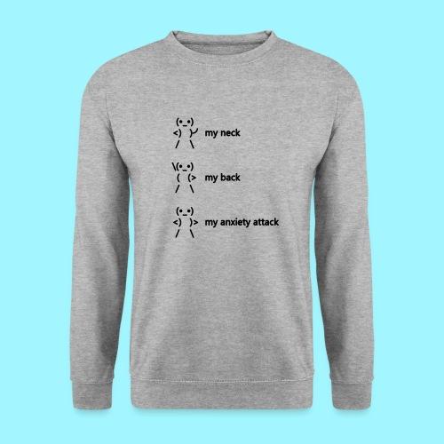 neck back anxiety attack - Unisex Sweatshirt