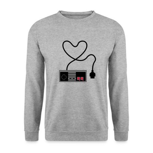 NES Controller Heart - Men's Sweatshirt