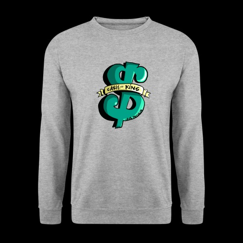 Cash is King groen met geel - Unisex sweater
