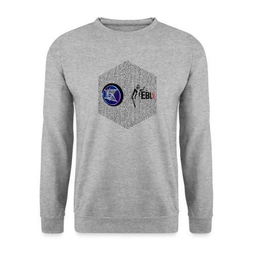 disen o dos canales cubo binario logos delante - Men's Sweatshirt