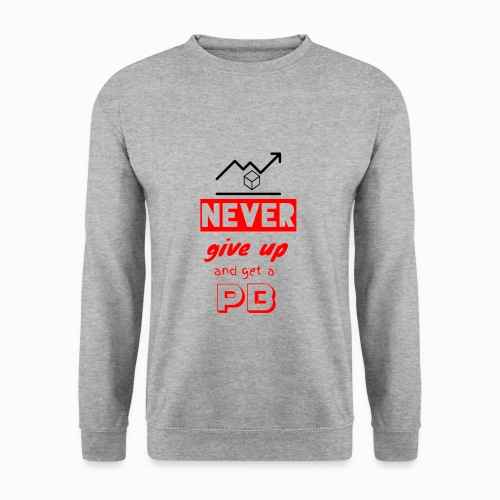 CA_Fashion official Cubing Edition Never give up - Men's Sweatshirt