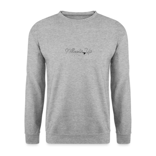 wheels up black figure - Unisex Sweatshirt