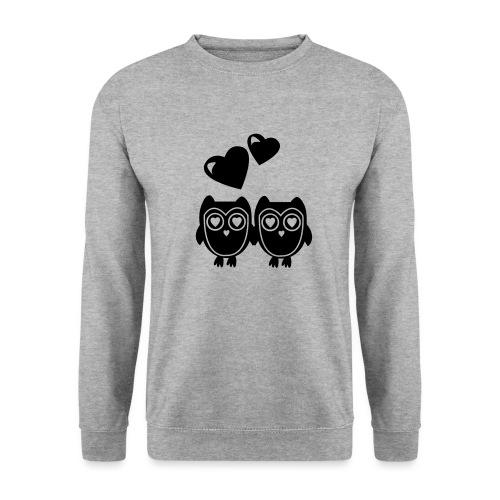 verliebte Eulen - Männer Pullover