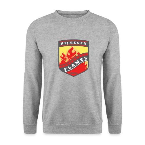 Hoodie Black - Red inner contrast - Unisex sweater