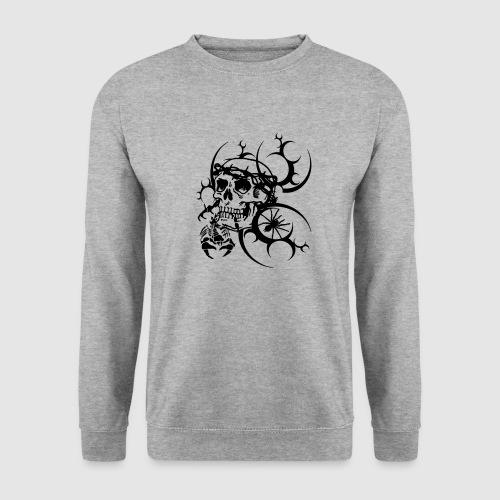 Tattoo Totenkopf - Männer Pullover