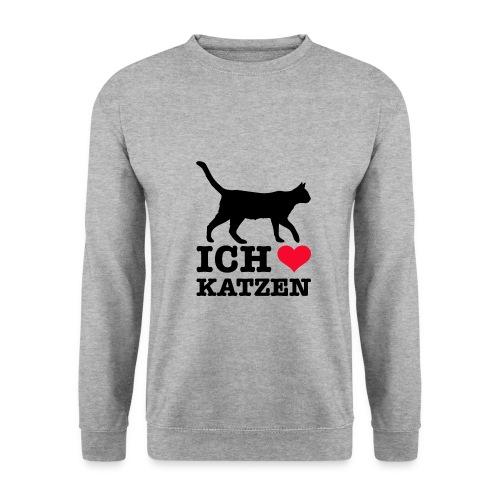 Ich liebe Katzen mit Katzen-Silhouette - Männer Pullover