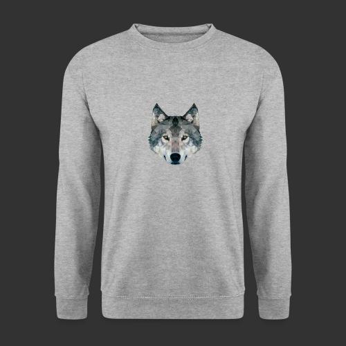 Loup LowPoly - Sweat-shirt Unisexe